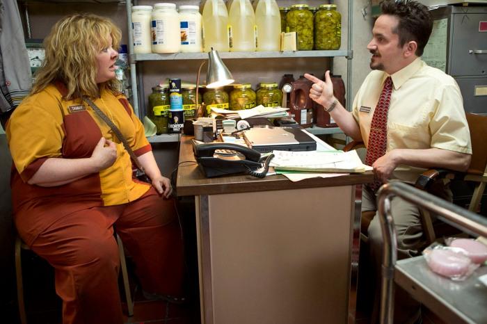 TAMMY - 2014 FILM STILL - Melissa McCarthy and Ben Falcone - Photo Credit: Michael Tackett/Warner Bros.