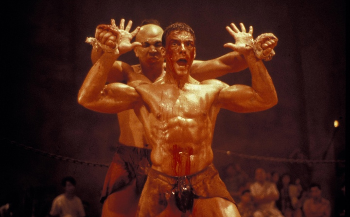 www.kobal-collection.com Title: KICKBOXER ¥ Pers: VAN DAMME, JEAN-CLAUDE ¥ Year: 1989 ¥ Dir: DiSALLE, MARK / WORTH, DAVID ¥ Ref: KIC003AE ¥ Credit: [ KINGS ROAD ENTERTAINMENT / THE KOBAL COLLECTION ] KICKBOXER (1989) , January 1, 1989 Photo by Kobal/KINGS ROAD ENTERTAINMENT/The Kobal Collection/WireImage.com To license this image (10585551), contact The Kobal Collection/WireImage.com